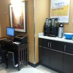 Business centre and complimentary coffee