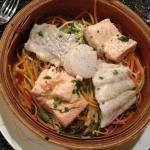 Trio de poisson (+ noix st-jacques) et ses spaghetti de légumes