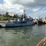 vista en la base naval Mar del Plata