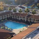 Large outdoor pool with swimming lanes. Great for working out or just relaxing.