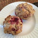 Fresh baked raspberry muffins from Duncan!