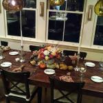 The Re-Invent Thanksgiving cooking class dinner table