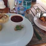 Présentation de l'assiette un peu spécial... Mais c'était relativement bon.