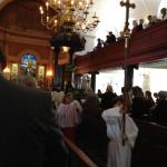 During Service carrying the cross
