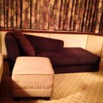 Er...the very weird, too-short, impractical couch-thing that was taking up space in my hotel roo