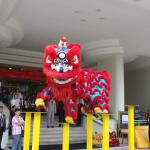 Lion Dance at the Lobby