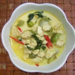 Green curry at Bac-a-Sable, Thalane