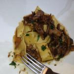 artisanal papardelle with short rib, chianti and chiodini mushrooms