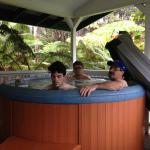 The men hot tubbing!