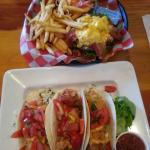 Fish Tacos and Bison Burger were AWESOME! And their drinks were too :)