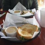 Carter Wrap and Chicken Salad Sandwich