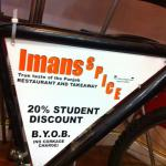 Imans, bike advertisement, student discount of up to 20% off (terms & conditions apply)
