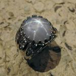 Original 14k white gold star sapphire and diamond lady's ring.