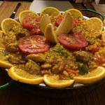 Delicious fresh made paella