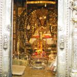 This sacred shrine is gilt inside and silver outside