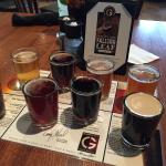 A flight of beer......not in-flight beer.