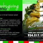 thanksgiving menu at lirios italian restaurant