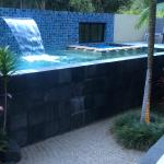 Your very own very private pool and spa :)