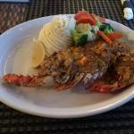 Curry Lobster w Mash & Vegetables