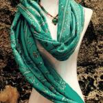 Cashmere needlework shawl