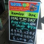 Outside menu board