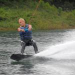First time on a wakeboard.