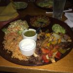 Steak and chicken fajitas