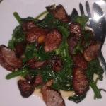 Our favorite appetizer -- sausage. & broccoli rabe