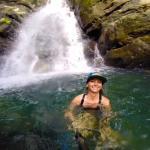 enjoying the refreshing water