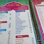 Menu card ... Take a look at Thali options