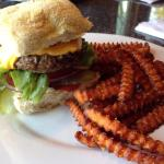 Burgers are good. Not crazy about the homemade bun. Good sweet potato fries
