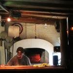 Sergio's famous wood fire pizza oven
