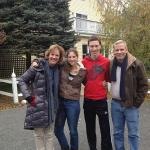 Our family in front of the inn