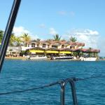 Approaching Saba Rock Resort