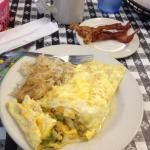 western omelette with order of bacon