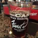 Pint glass of the Faust Octoberfest