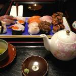 Freshly made sushi selection
