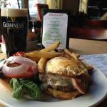 A Guinness and a Wild Boar Burger