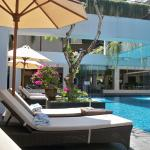 Pool and banana lounge