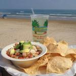 Margarita & Ceviche on the beach at Clayton's