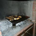 Corderito Patagonico en la parrilla.