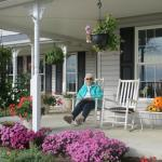 Relaxing on the front porch