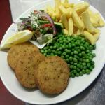 smoked  haddock and spring onion fish cakes