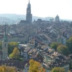 view of the old town from atop Rosengarten