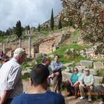 Entering the Temple of Apollo Site