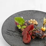 Foie gras poêlé pain d'épices et poire au Banyuls