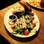 Wild Boar Burger with Green Salad