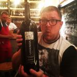 The largest bottle of wine in Dionysos (we didn't drink it)
