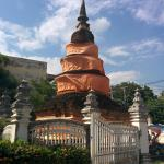 The sacred Chedi at Wat Inthakhin Saduemuang.