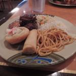 food at buffet